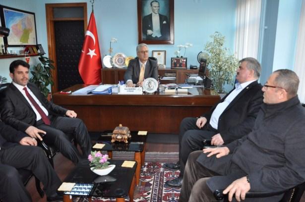 Çaturoğlu,Kaymakam Nazım Madenoğlu'nu ziyaret etti
