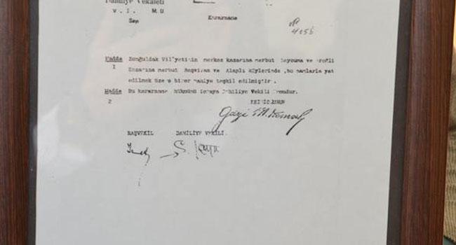 Alaplı tarihinde 'Mustafa Kemal' imzası