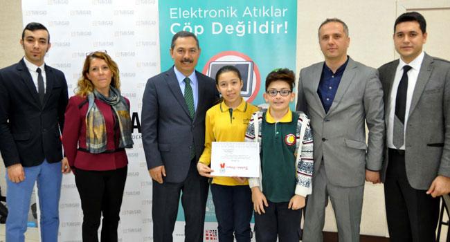 e-atık toplayan okullar ödüllendirildi