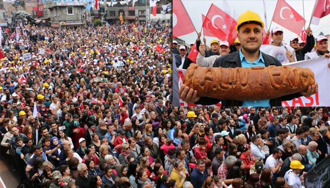 Zonguldak'ta 1 Mayıs coşkusu