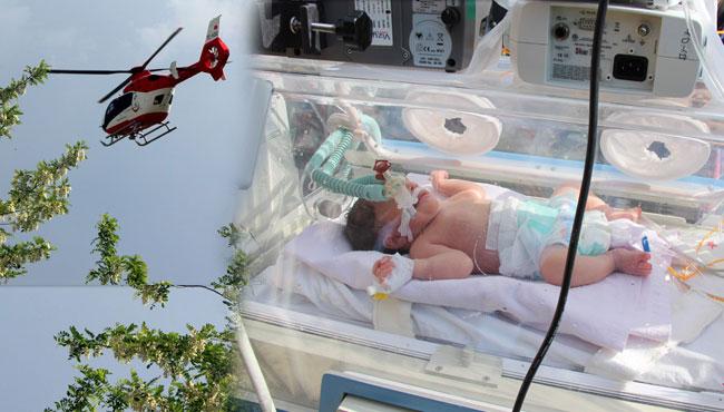 Suriyeli bebek umuda uçtu