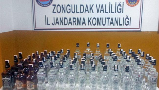 Kaçak içkiler ele geçirildi