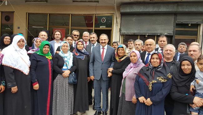 Vali Kaban'a Çınartepe'de yoğun ilgi