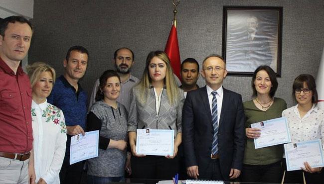Sağlık personeline sertifikaları verildi