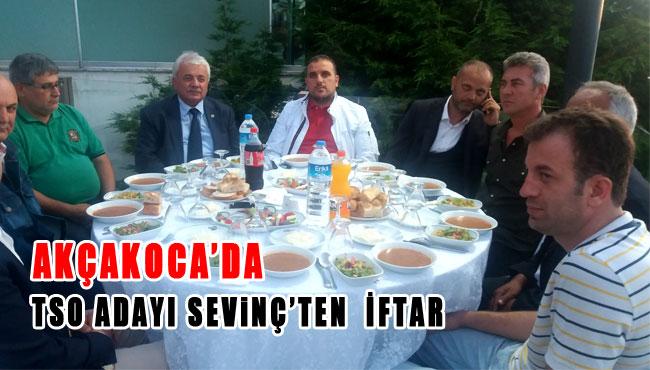 AKÇAKOCA'DA TSO ADAYI SEVİNÇ'TEN  İFTARİ