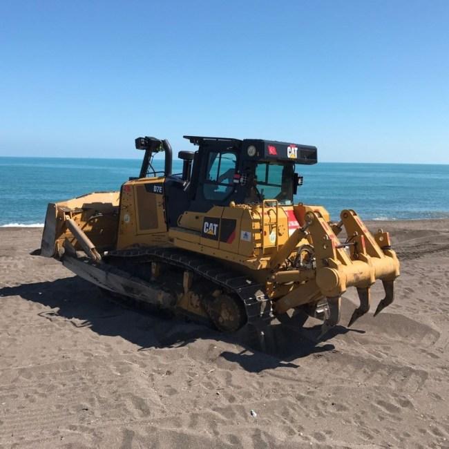 Mavi bayraklı plajı Temizlendi