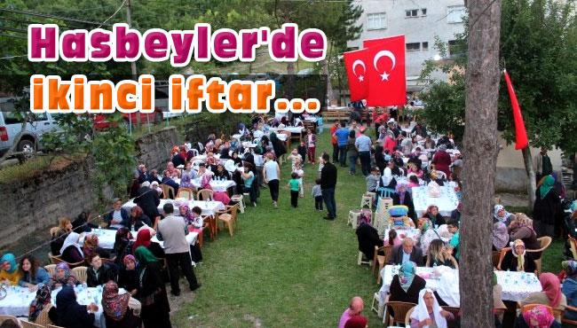 Hasbeyler'de ikinci iftar