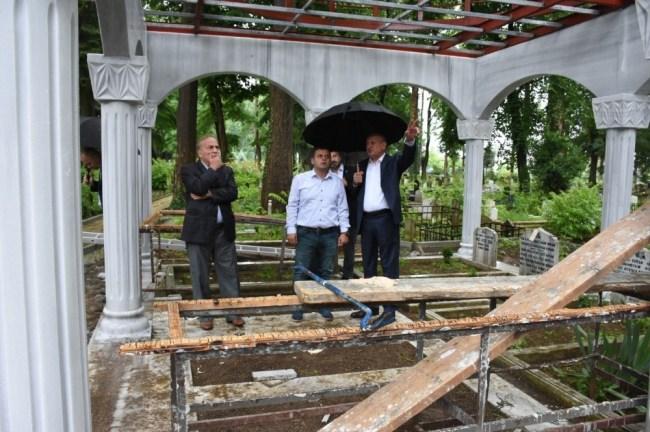 Başkan Keleş; Türbe inşaatını Yerinde İnceledi.