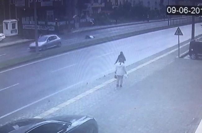 O kaza kameralara böyle yansıdı