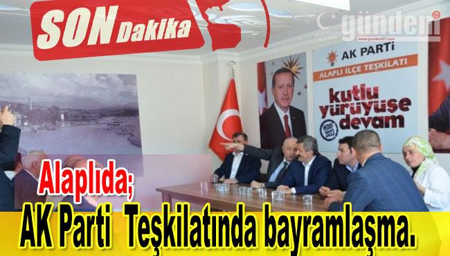 AK Parti  Teşkilatında bayramlaşma.