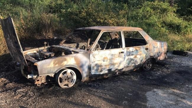 Otomobil Alev Alev Yandı.