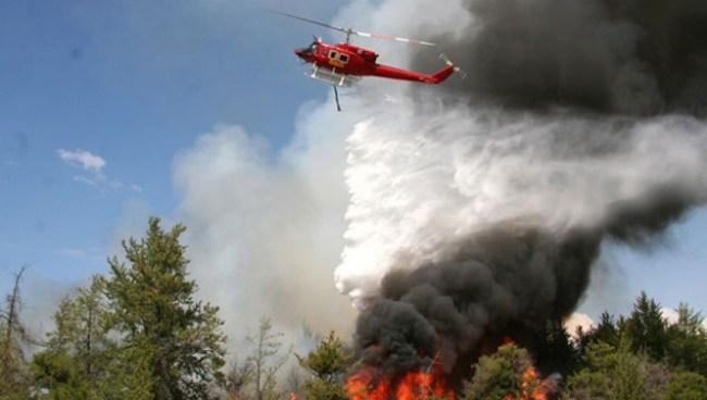 Safranbolu'da Orman Yangını helikopter destekli söndürüldü