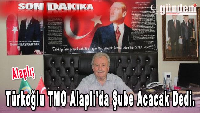 Türkoğlu TMO Alaplı'da şube acacak dedi