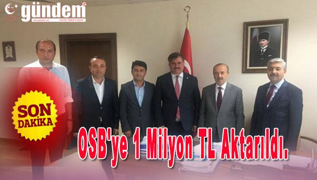 OSB'ye 1 Milyon TL aktarıldı