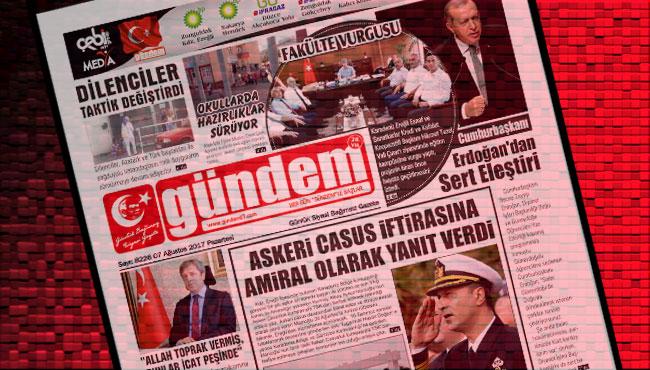 07 Ağustos 2017 Gündem Gazetesi