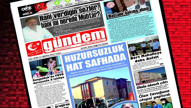 11 Ağustos 2017 Gündem Gazetesi