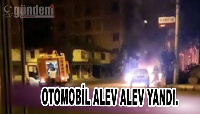 Zonguldak'ta Otomobil alev alev yandı.