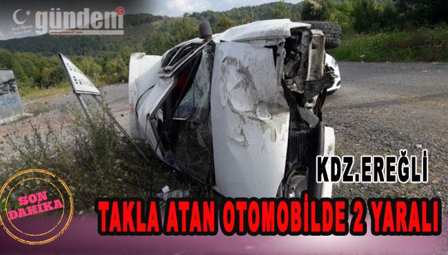 Ereğli'de Takla Atan otomobilde 2 Yaralı