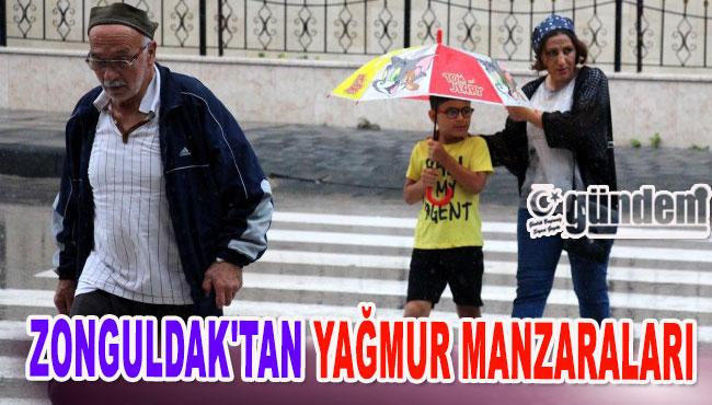 Zonguldak'tan yağmur manzaraları