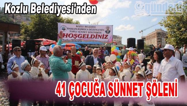 Kozlu Belediyesi'nden 41 çocuğa sünnet Şöleni