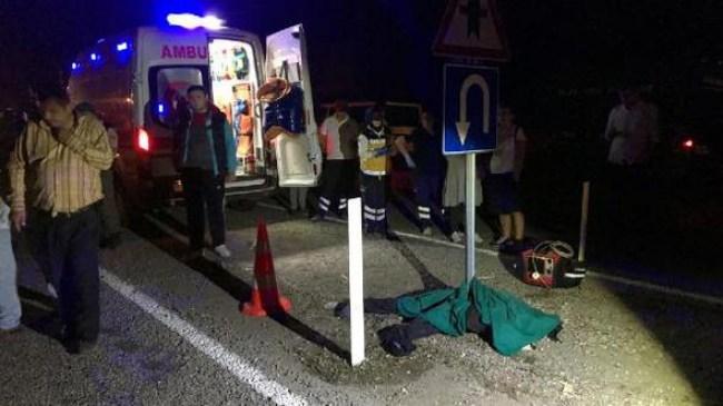 Bartın'da otomobilin çarptığı yaya hayatını kaybetti