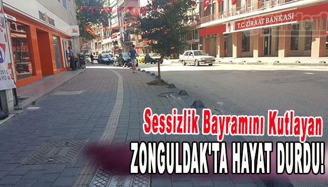 Sessizlik Bayramını kutlayan Zonguldak'ta hayat durdu!