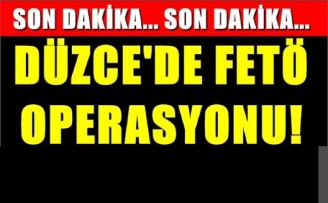 Düzce'de FETÖ/PDY operasyonu: profesör tutuklandı