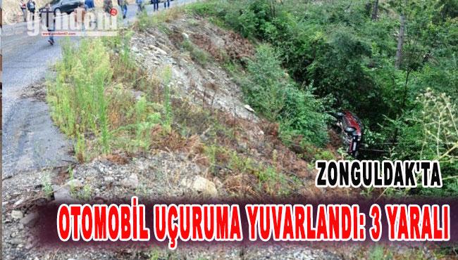 Zonguldak'ta Otomobil Uçuruma Yuvarlandı: 3 Yaralı