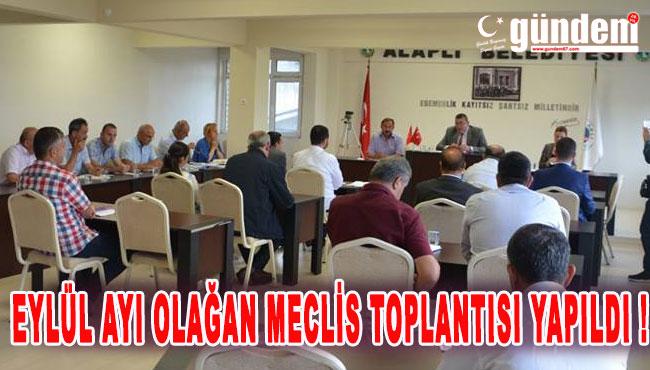 Eylül Ayı Olağan Meclis Toplantısı Yapıldı !
