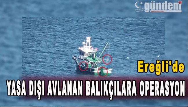 Ereğli'de Yasa Dışı Avlanan Balıkçılara Operasyon