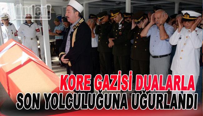 Kore Gazisi dualarla son yolculuğuna uğurlandı