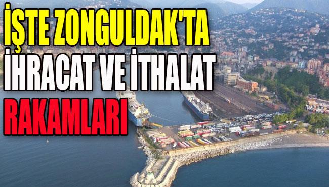 İşte Zonguldak'ta ihracat ve ithalat rakamları