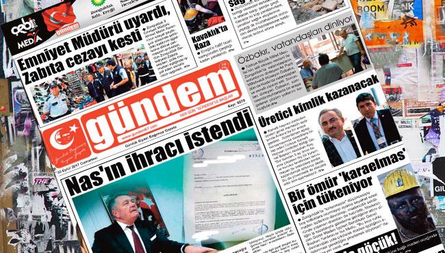 30 Eylül 2017 Gündem Gazetesi
