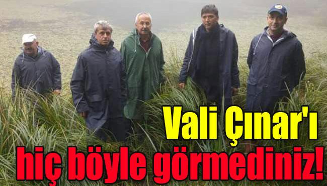 Vali Çınar'ı hiç böyle görmediniz!