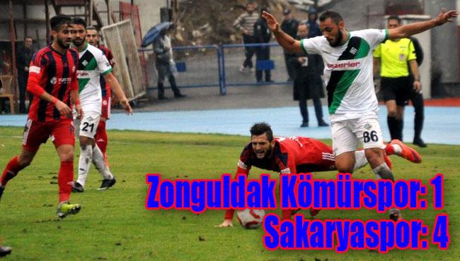 Zonguldak Kömürspor: 1 Sakaryaspor: 4