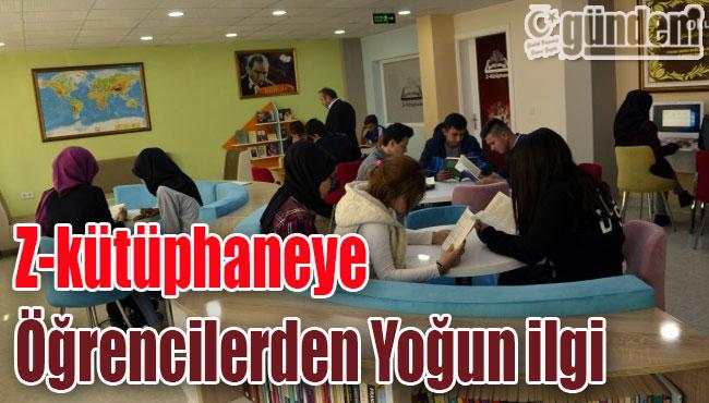 Alaplı'daki Z-kütüphaneye öğrencilerden Yoğun ilgi