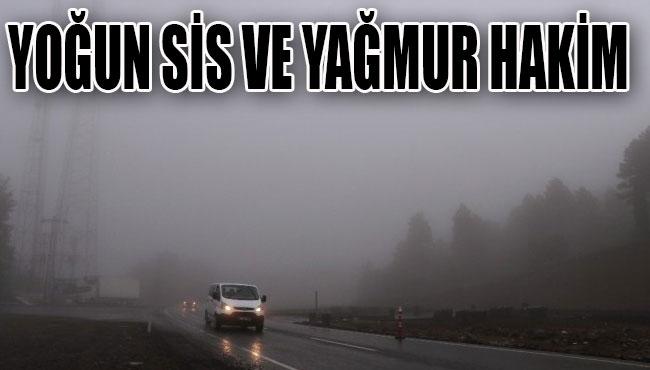 Zonguldak'ta yoğun sis ve yağmur hakim