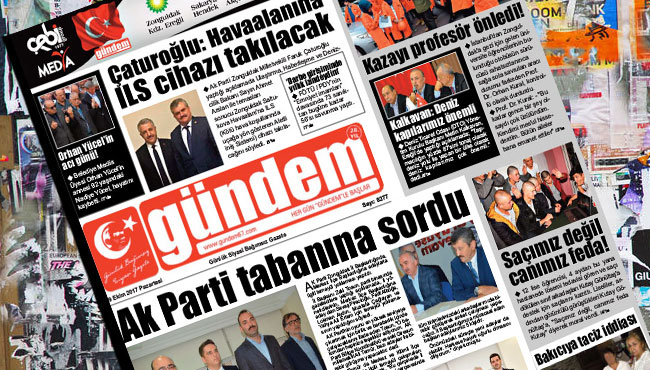 09 Ekim 2017 Gündem Gazetesi