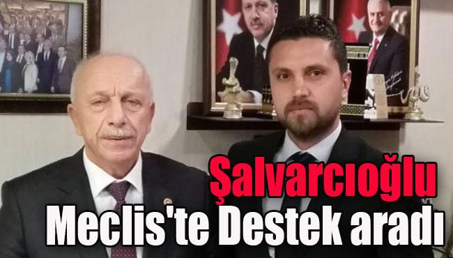 Şalvarcıoğlu Meclis'te Destek aradı