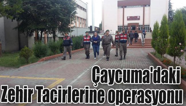 Çaycuma'daki Zehir Tacirlerine operasyonu