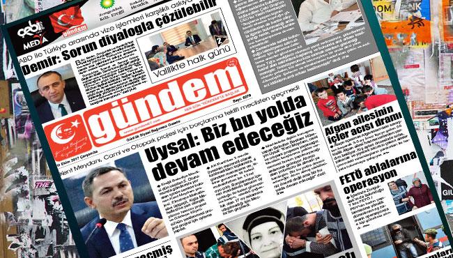 11 Ekim 2017 Gündem Gazetesi