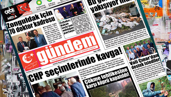 16 Ekim 2017 Gündem Gazetesi