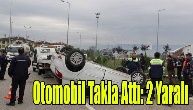 Kalıcı Konutlarda Otomobil takla attı: 2 yaralı