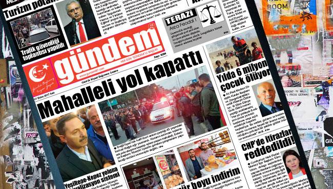 17 Ekim 2017 Gündem Gazetesi