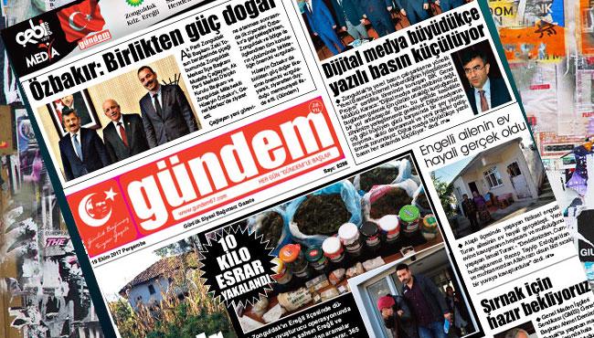 19 Ekim 2017 Gündem Gazetesi