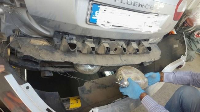 Otomobilden toz esrar maddesi ele geçirildi