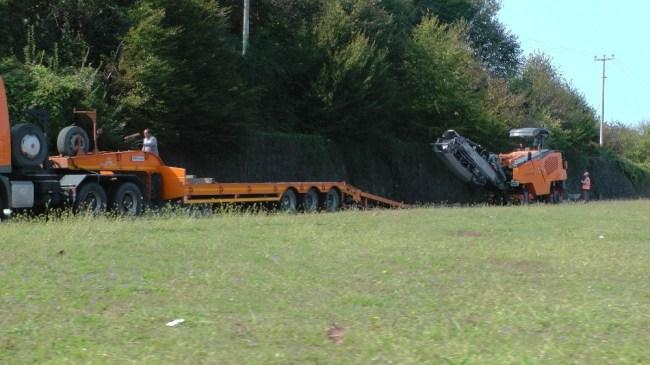 Akçakoca çevre yolunda asfalt çalışması