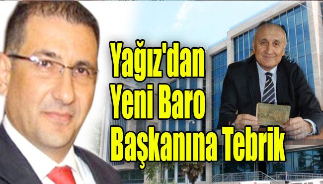 Cumhuriyet Başsavcısı Yağız'dan yeni baro başkanına tebrik