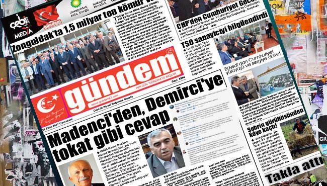 28 Ekim 2017 Gündem Gazetesi
