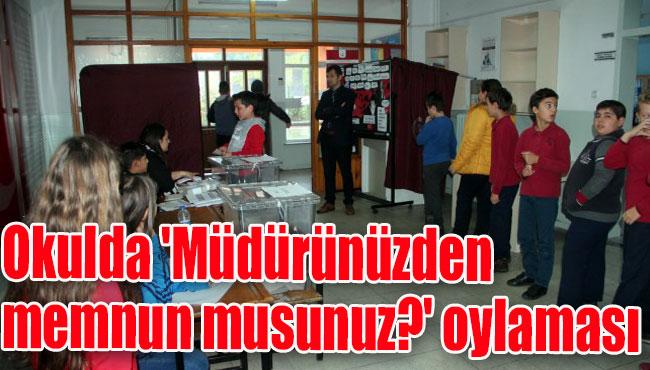 Kozlu'da Okulda 'Müdürünüzden memnun musunuz?' oylaması